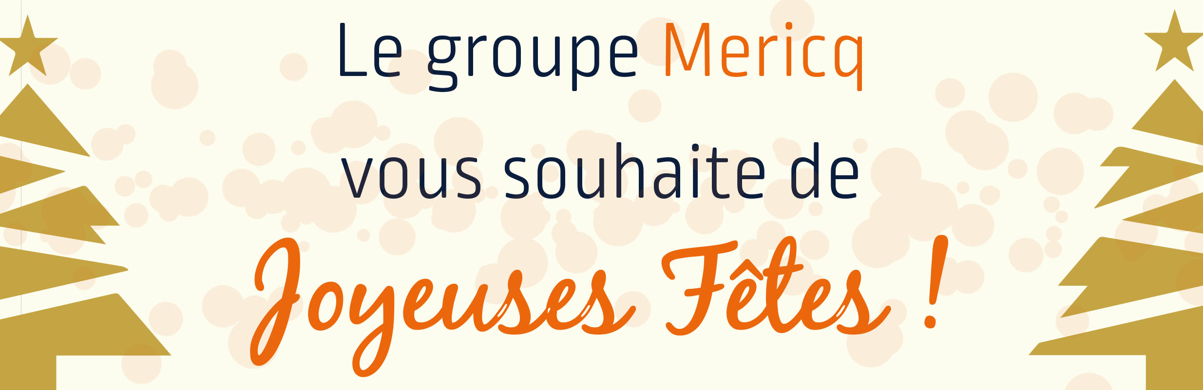 Bonnes fêtes de fin d'année chez Mericq !
