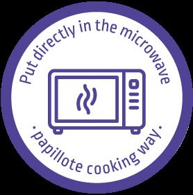 Filet de poisson à mettre directement au micro-ondes pour une cuisson façon papillote. Par Mericq
