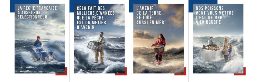 Nouvelle campagne d'affichage pour Pavillon France, la marque des produits de la pêche française